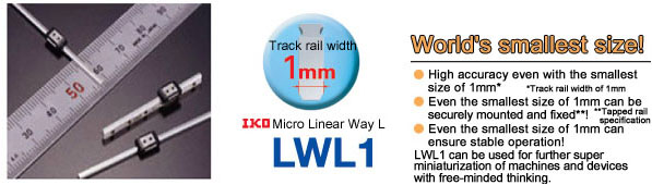 Micro Linear Way L realized by simple structure