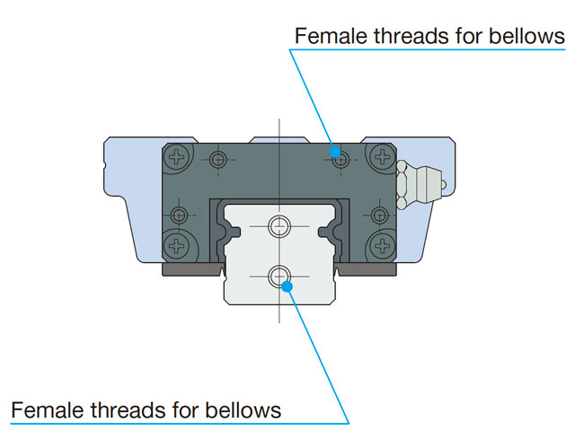 female threads for bellows/J
